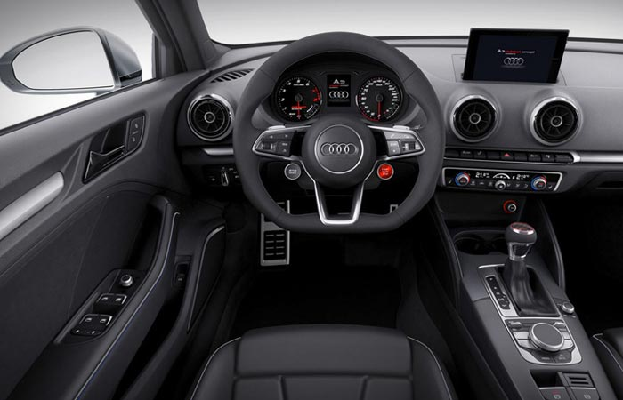 Interior of the Audi A3 Clubsport Quattro