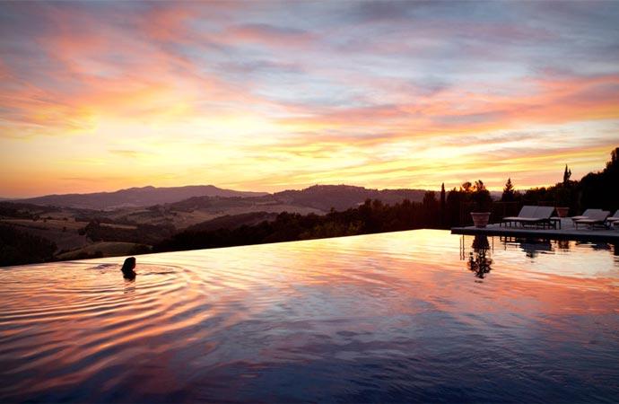 Infinity pool at Castello Di Casole