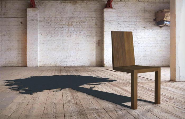 Tree shadow chair