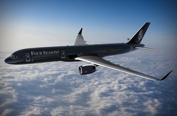 Four Seasons Around the World private jet