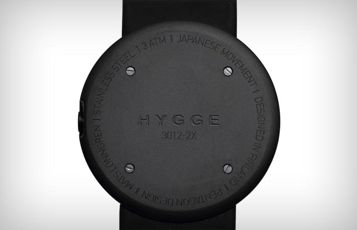 Back dial of the Hygge 3012 series watch