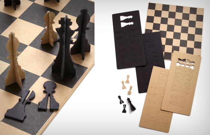 Paper chess set