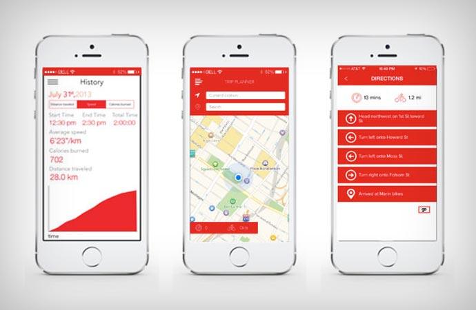 Smart bike mobile app