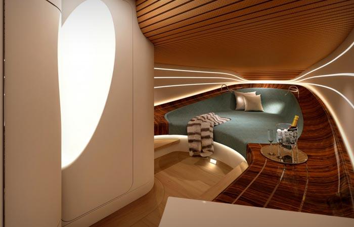 Interior of the Claydon Reeves Aeroboat