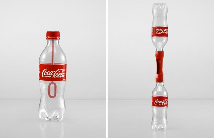 Coca-Cola bottles reused for different purposes