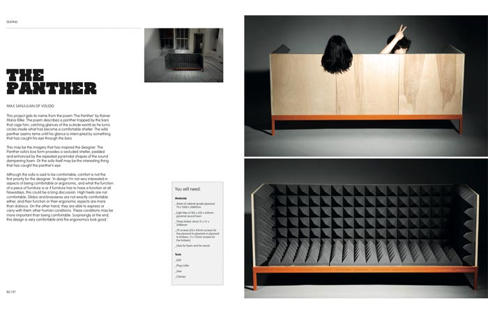 DIY furniture book showing how to make a sofa