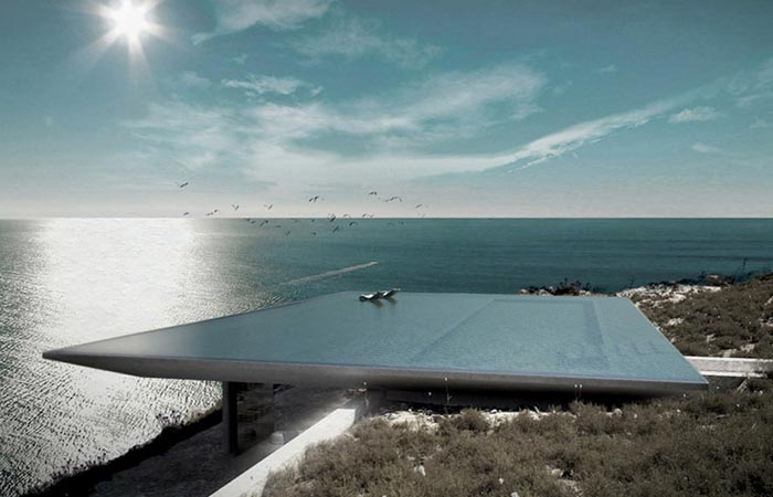 Mirage House with infinity pool on the roof