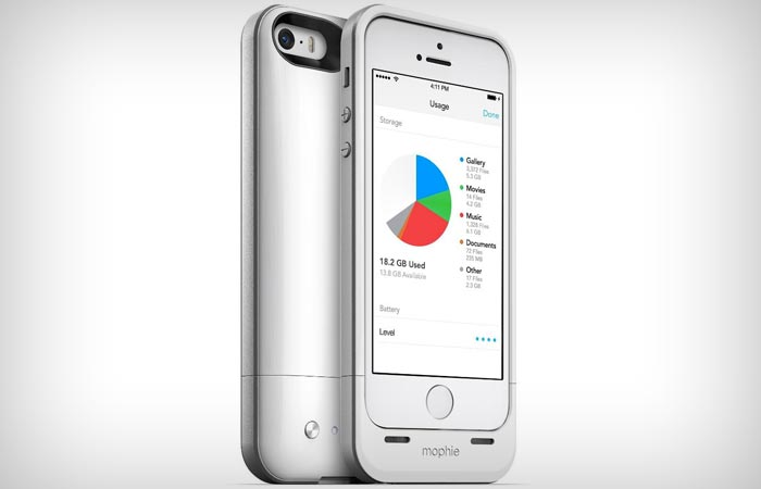 Mophie storage and extra battery case