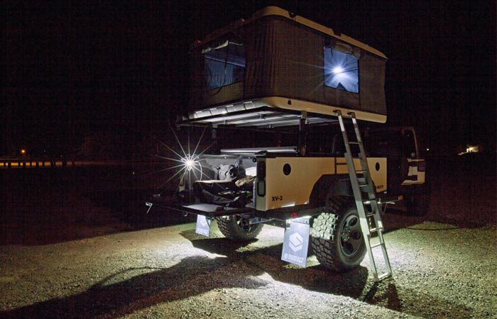 Xventure off road trailer with shelter