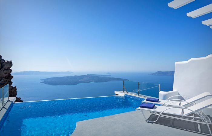 View from Angels and Stars in Santorini