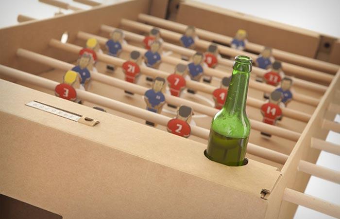 Cardboard foosball table from kartoni