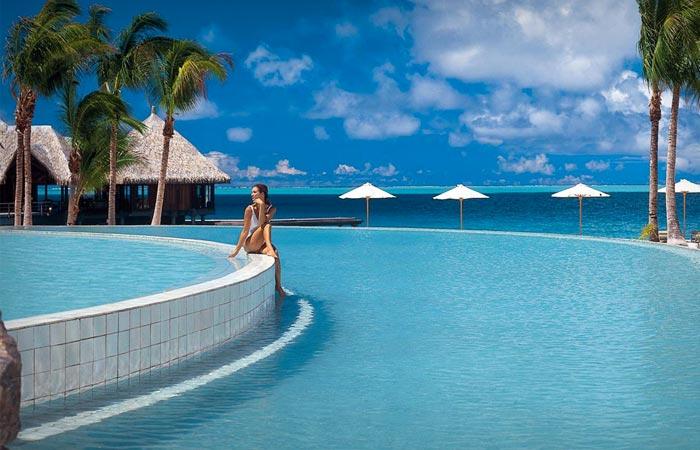 Swimming pool at Hilton Bora Bora Nui resort