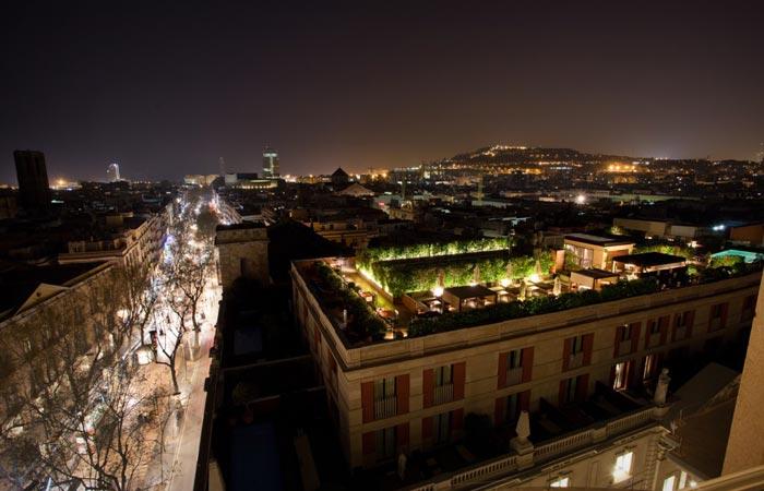 Rooftop of Hotel 1898 in Barcelona
