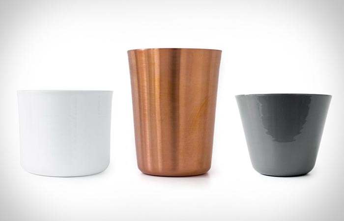 Different size and material tumblers
