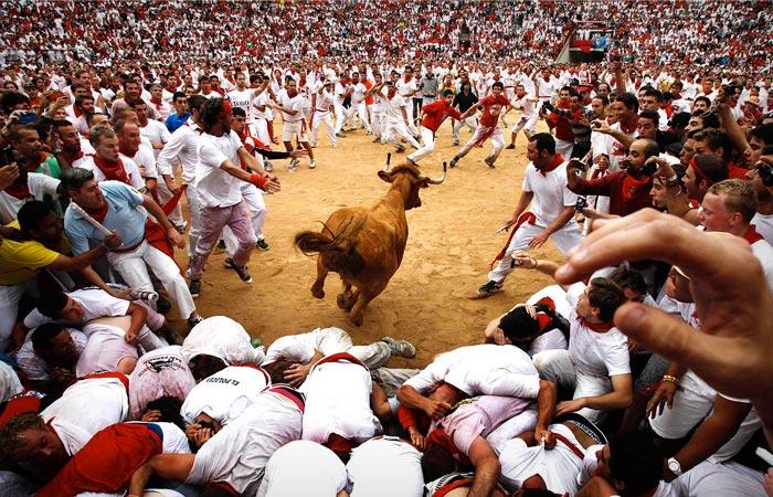 Pamplona Spain Bull Run
