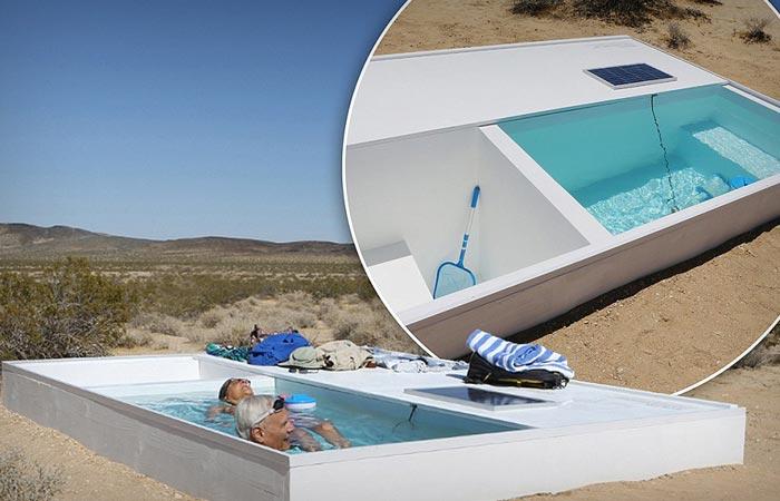 Secret swimming pool in the desert