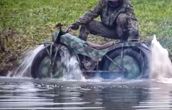 Russian all-terrain motorcycle