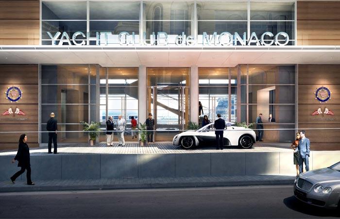 Entrance of Yacht Club de Monaco