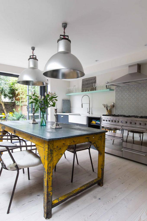 Modern and rustic metal designed kitchen