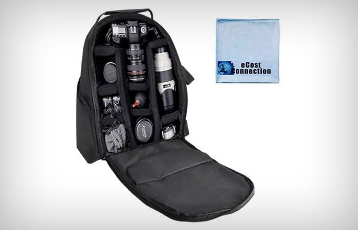 BP Deluxe Digital Camera Video Padded Backpack