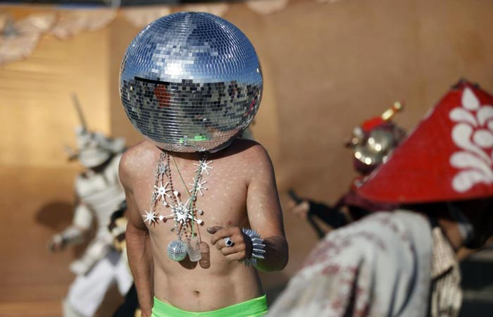 Disco head at Burning Man Festival