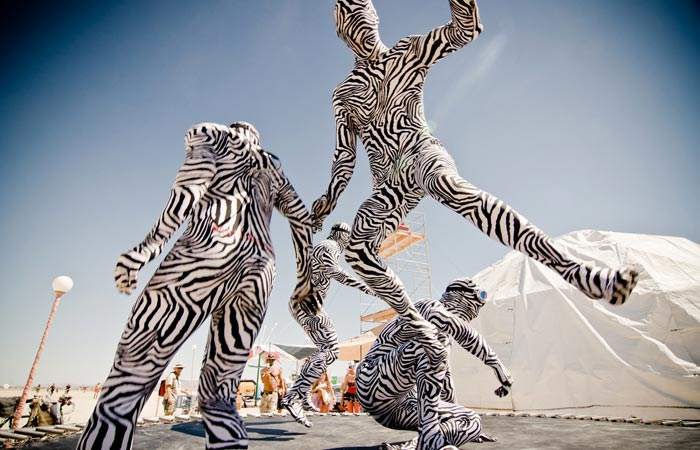 Performers at the Burning Man Festival