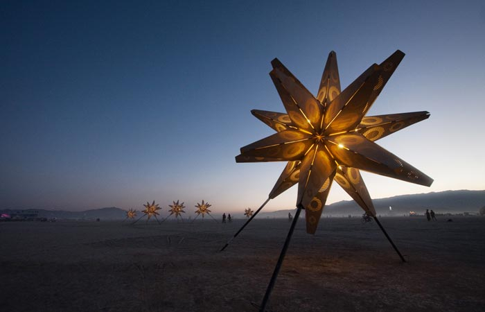 Burning Man Festival at dawn