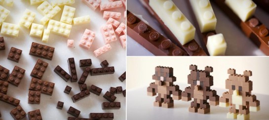 EDIBLE CHOCOLATE LEGO