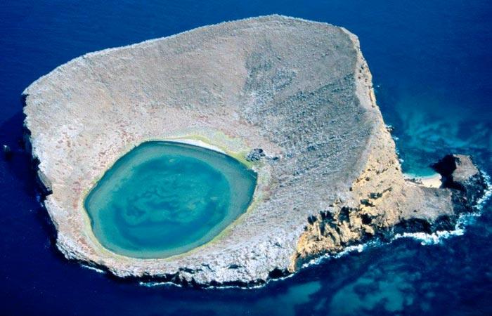 Galapagos Islands crater lake