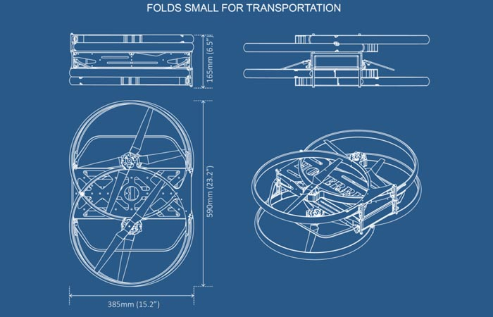 Hoverbike blue prints