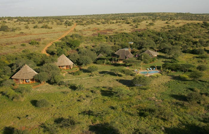 Loisaba Wilderness in Kenya aerial view