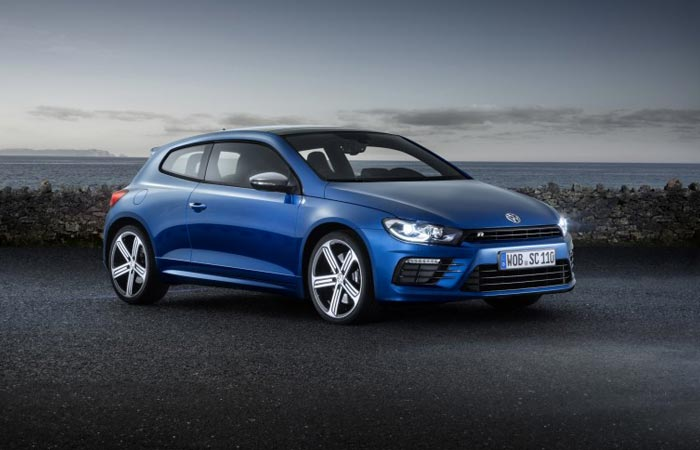 New VW Scirocco in blue