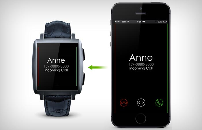 Omate X smart watch compatible with iPhone and Android