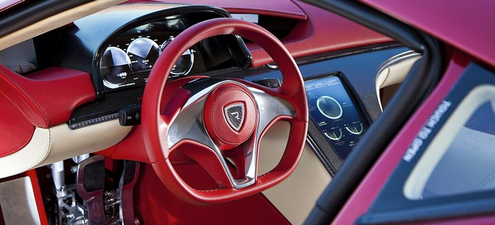 Interior of the Rimac Concept One Electric Supercar