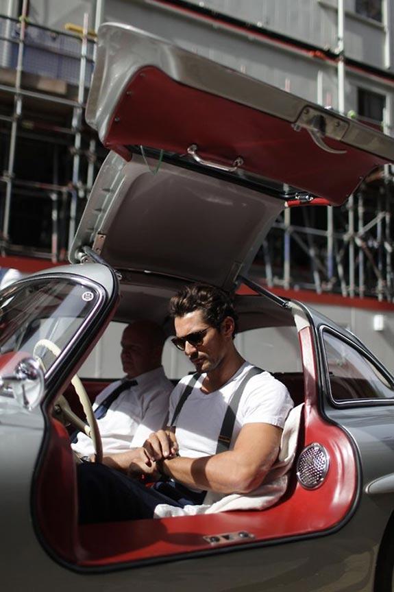 Man in Mercedes super car