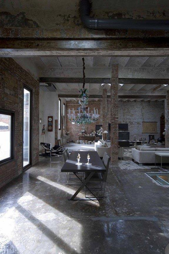 Interior design of a loft