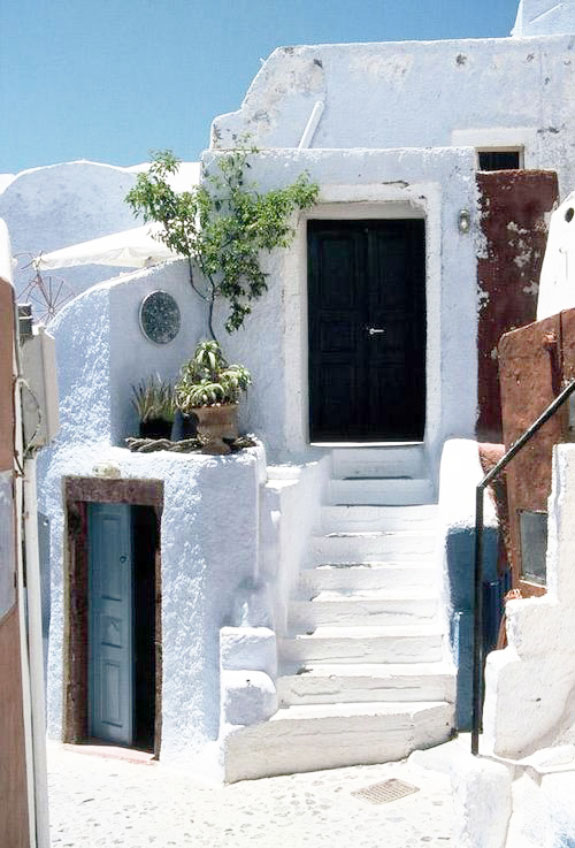 Greece white stairs
