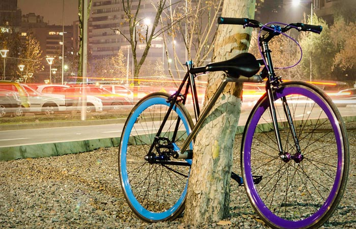 Yerka Project Unstealable Bike locked to a tree