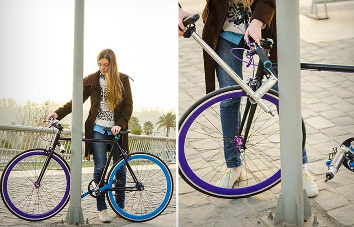 How does the Yerka Project Unstealable Bike work?