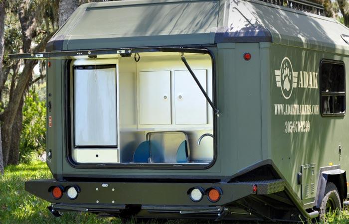 Adak Trailer rear compartment