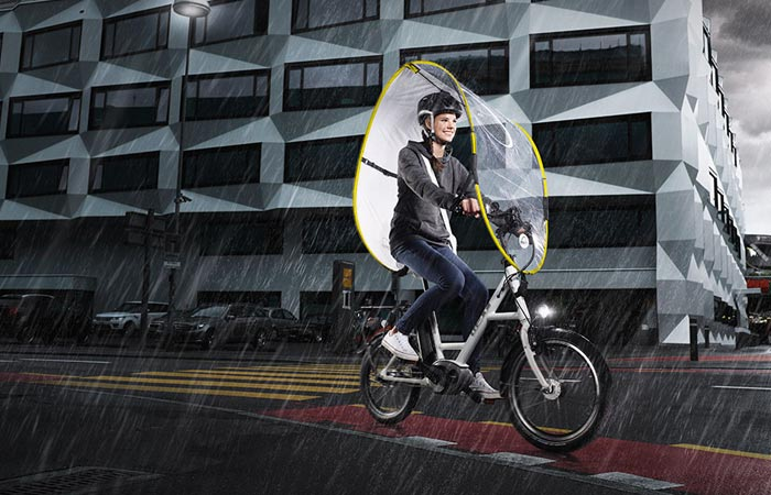 Dryve weather protection system for bicycles