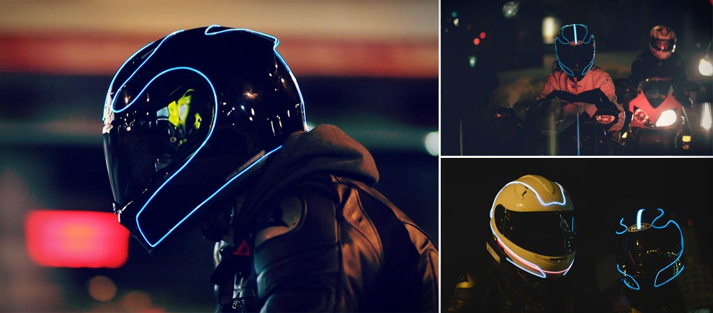 Lightmode motorcycle helmet
