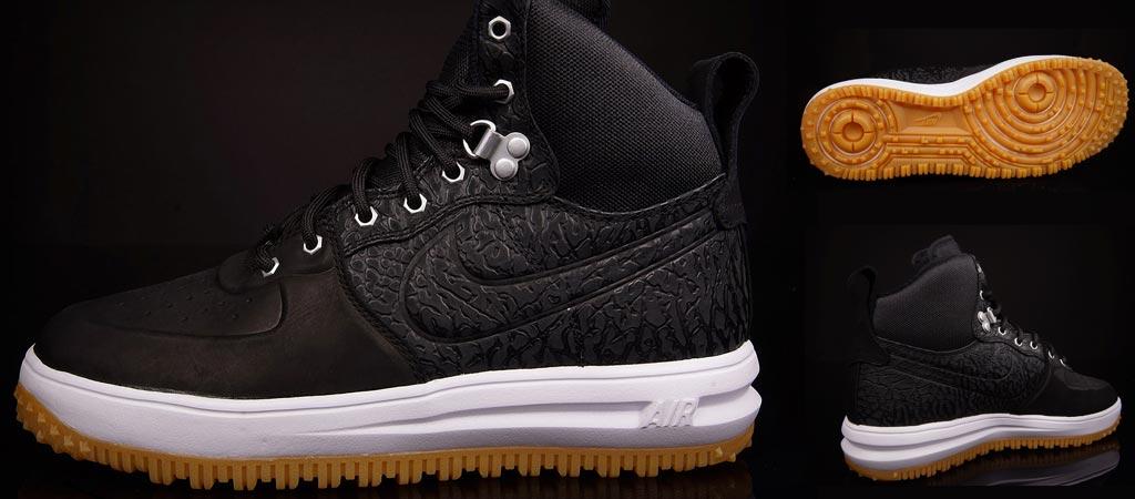 Nike Lunar Force 1 Sneakerboot | Black Elephant
