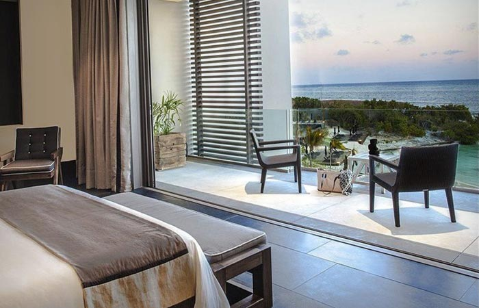 Ocean view room at the Nizuc Resort and Spa