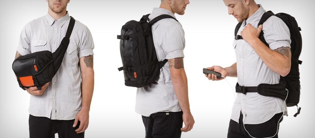Soot Electropack 2 backpack, chargeable carry-on