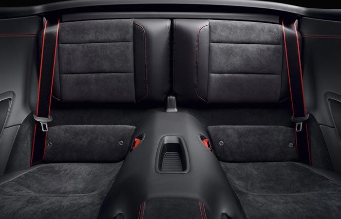 Back seats of the 2015 Porsche 911 GTS