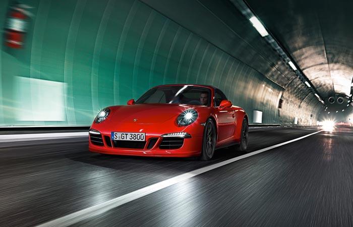 Red 2015 Porsche 911 GTS