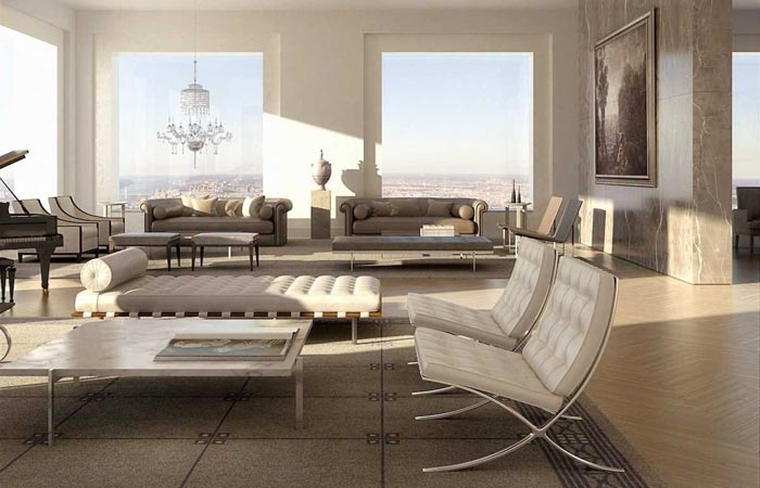 Interior design of an apartment at 432 Park Avenue