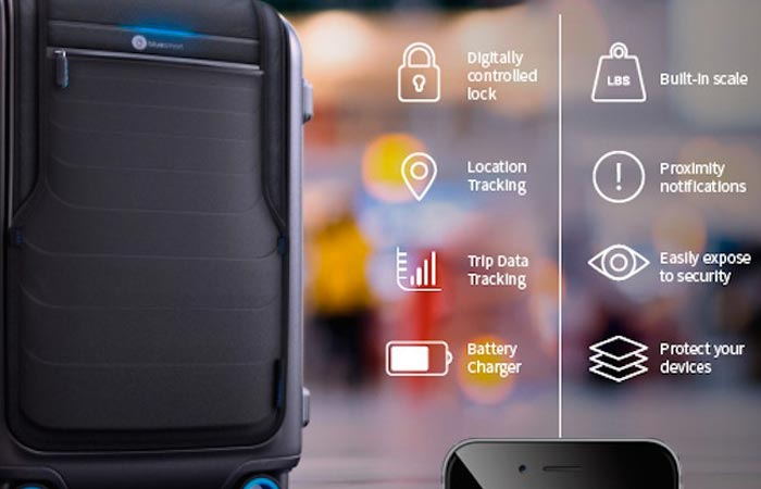 Features of the Bluesmart carry-on bag