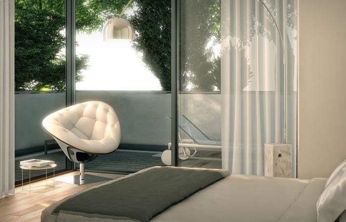 Interior design of Bosco Verticale buildings